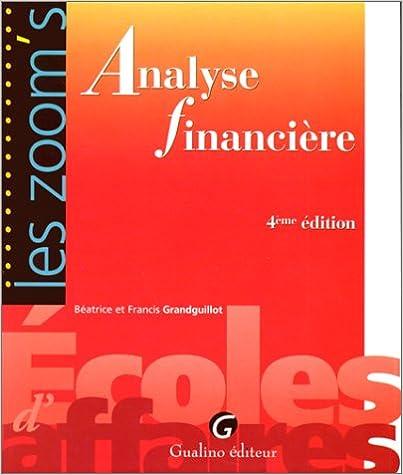 Livre gratuits Zoom's analyse financière epub, pdf