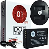 DOT-01 Brand Canon EOS M50 Battery and Dual Slot USB Charger for Canon EOS M50 DSLR and Canon M50 Battery and Charger Bundle for Canon LPE12 LP-E12