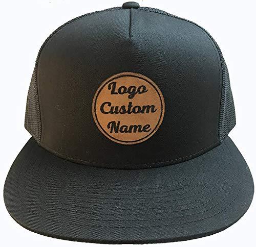 amazon com custom leather patch trucker hats handmade custom leather patch trucker hats