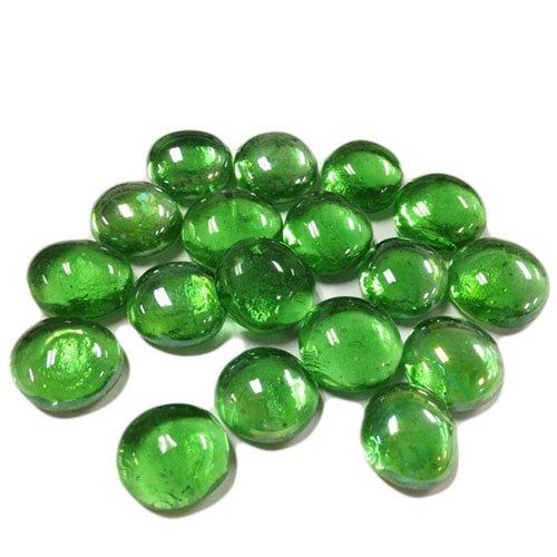 CYS Vase Filler Gem Glass Confetti, Table Scatters, Green, 1 lb per bag (5 bags), Approximately 580 (Aquarium Table Glass Aquarium)