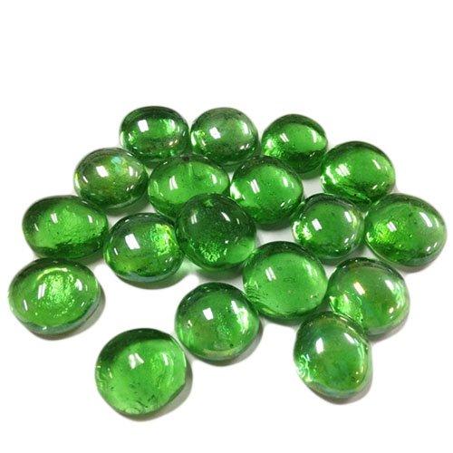 CYS Vase Filler Gem Glass Confetti, Table Scatters, Green, 1 lb per bag (5 bags), Approximately 580 pcs