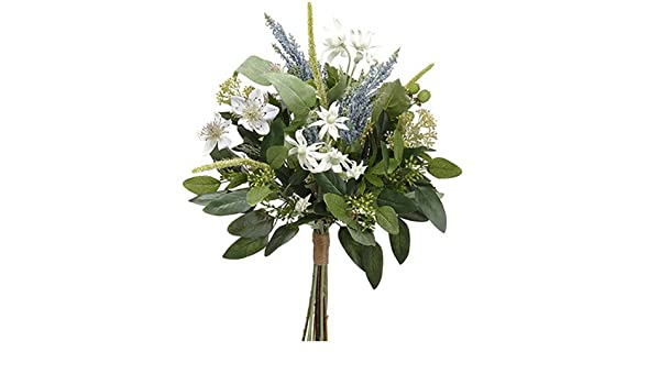 Amazon 19 nigella edelweiss astilbe silk flower bouquet amazon 19 nigella edelweiss astilbe silk flower bouquet whiteblue pack of 6 home kitchen mightylinksfo