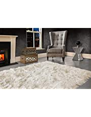 VICEROY BEDDING Modern Extra Large 9cm Thick Dense Pile SHAGGY RUG with SPARKLE SHIMMER Strands - For Rugs Living Room Area Rug - Luxurious Super Soft Touch