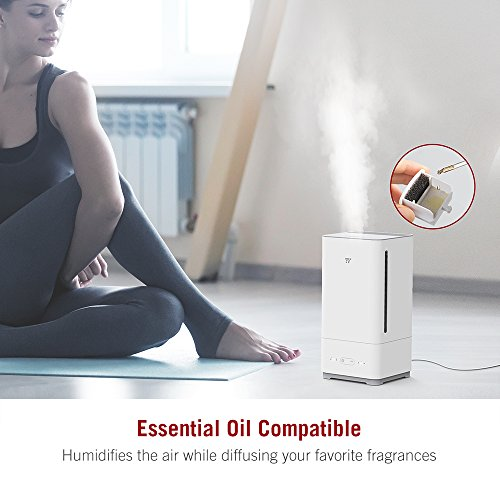 TaoTronics Top Fill Humidifiers Ultrasonic Cool Mist Essential Oil Diffuser Humidifier, Easy to Clean for Home Baby Large Room, 3 Mist Levels, Timer, Waterless Auto Shut Off -(5L/1.32 Gallon, US 110V) by TaoTronics (Image #2)