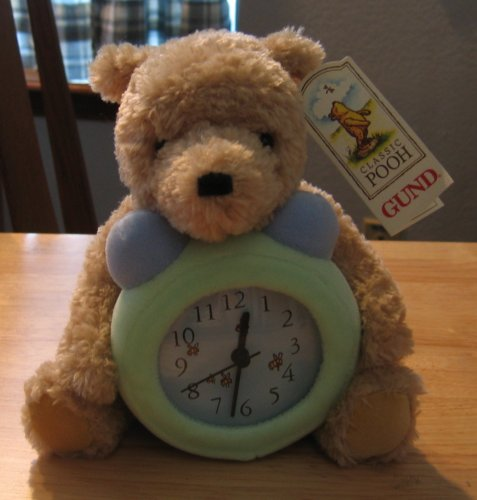 UPC 028399790036, Classic Pooh Plush Nursery Clock