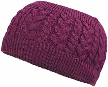 b7eb1bee53c6f3 Flammi Cable Knit Headband Wool Braided Ear Warmer Headwrap for Women/Girls