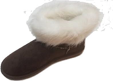 Amazon.com | Women's Suede Faux Fur