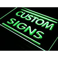tm ADV PRO Custom Signs LED Signs/Edge Lit Signs/Your Own Design (24x16, Green)