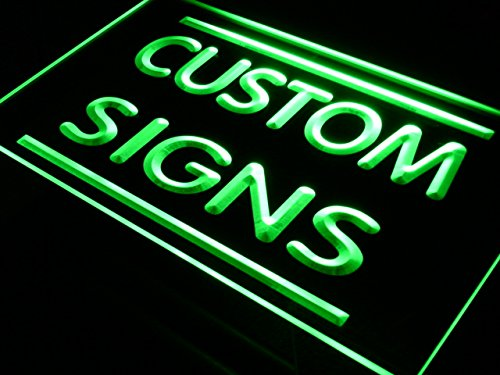 tm ADV PRO Custom Signs/Neon Signs/LED Signs/Edge Lit Signs/Your Own Design (400x300mm, Green)