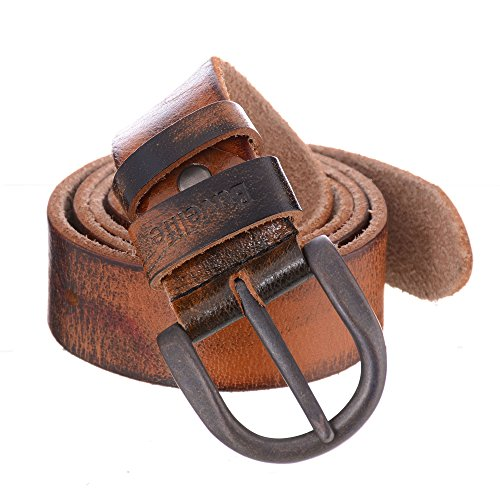 Buvelife Men's Leather Belt Vintage with Pin Buckle Casual - Soft Leather Buckle Belt