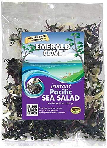Emerald Cove Instant Pacific Sea Salad (Six Varieties of Sea Vegetables), 0.75 Ounce Bag (Sea Wakame Vegetable)