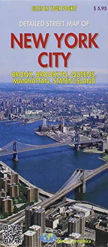 Detailed street map of New York City : Bronx, Brooklyn, Queens, Manhattan, Staten Island ()
