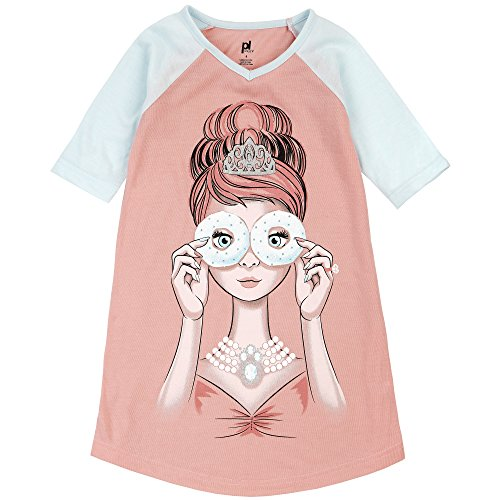 Price comparison product image Petit Lem Big Girls' Donuts Nightgown, Salmon, 5