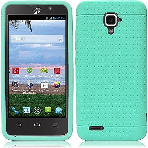 ZTE Rapido LTE Z932L Case - Wydan (TM) Silicone Soft Gel Skin Case Flexible Cover For ZTE Rapido LTE Z932L - Mint Green w/ Wydan Stylus (Zte Rapido Phone Cases)