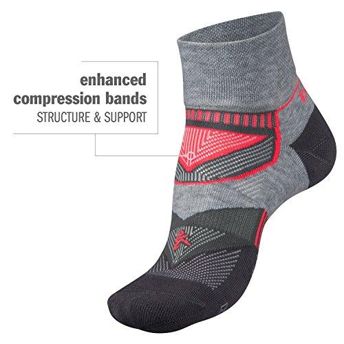 Balega Enduro V-Tech Quarter Socks For Men and Women (1-Pair), White/Ink, Medium