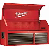 Milwaukee 46 in. 8-Drawer Steel Storage Chest, Red and Black