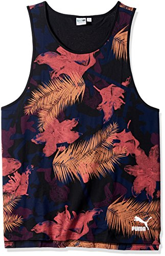 PUMA Mens Summer Tropical Tank Top All Over Print