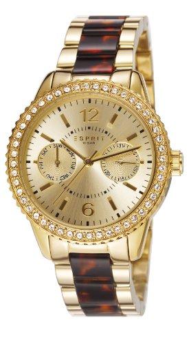 Esprit es106752002 36mm Gold Steel Bracelet & Case Mineral Women's Watch