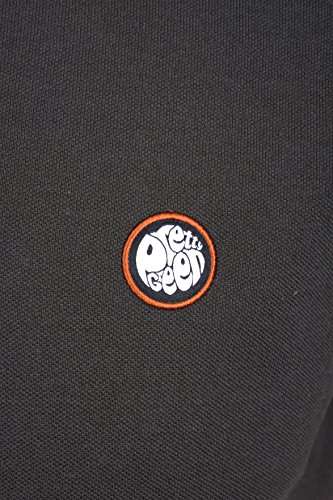 Pretty Green Tipped Pique Polo Dunkelgrau