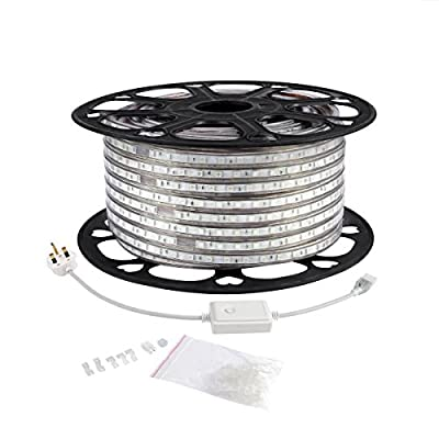 LE 164ft Flexible LED Strip Lights, RGB, 3000 Units SMD 5050 LEDs, 720lm/m, 110-120 V AC, Color Changing, Waterproof IP65, Accessories Included, LED Tape, LED Rope Lights, Pack of 164ft/50m