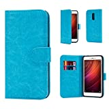 Xiaomi Redmi Note 4 Case by 32nd Book Style Faux Leather Wallet Cover for Xiaomi Note 4 - Light Blue
