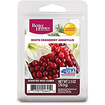 Better Homes and Gardens White Cranberry Amaryllis Wax Cubes