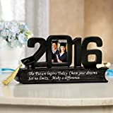Class of 2016 - Graduation Picture Frame With Hat And Tassel, Tabletop, Black