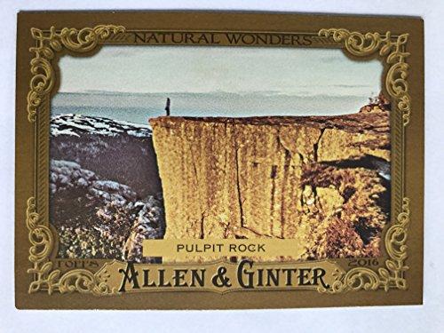 (2016 Allen & Ginter Natural Wonders #NW-16 Pulpit Rock NM/M (Near Mint/Mint))