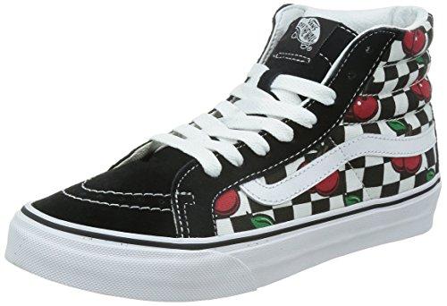 Vans Womens Black SK8-Hi Slim Cherry Checkers Sneakers-UK 3