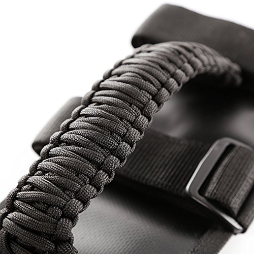 Rugged Ridge 13505.30 Paracord Grab Handles, Black, Pair