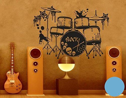 Klebefieber Wandtattoo Schlagzeug B x H H H  100cm x 71cm Farbe  Schwarz B071DWHL1B Wandtattoos & Wandbilder 5f5676