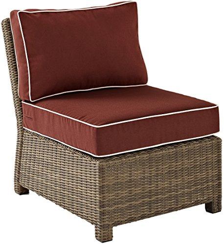 Crosley KO70017WB-SG Bradenton Sectional Center Chair, Sangria Cushions.