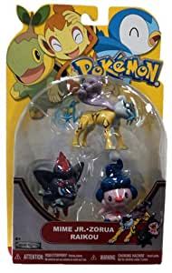 Pokemon Series 19 Basic Figure 3Pack Mime Jr., Raikou Zorua
