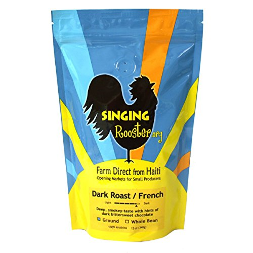Singing Rooster Fair Trade French Dark Roast Coffee from Haiti - GROUND
