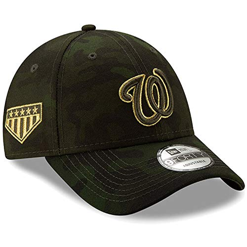 New Era MLB 2019 Armed Forces Day 9Forty Adjustable Dad Hat Cap: OSFM (Washington Nationals) (Washington Nationals Green Hat)