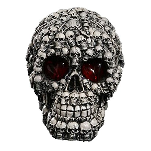 [LED Eye Skulls Head Figurine Skull of Bones Gothic Ornament Decoration] (Full Minecraft Creeper Costume)