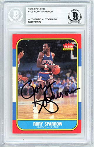 - Rory Sparrow Autographed 1986 Fleer Card #105 New York Knicks Beckett BAS #10736972 - Beckett Authentication