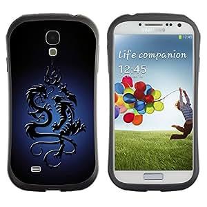 Be-Star Impreso Colorido Diseño Antichoque Caso Del iFace Primera Clase Tpu Carcasa Funda Case Cubierta Par SAMSUNG Galaxy S4 IV / i9500 / i9515 / i9505G / SGH-i337 ( Tribal Dragon )