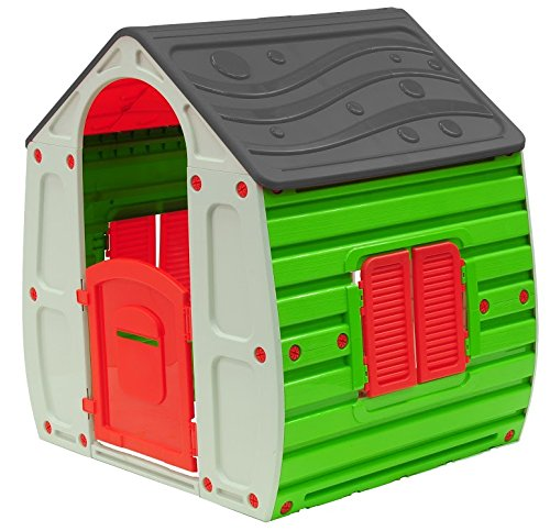 Classic Playhouse (Starplay Magical Playhouse, Classic Color Combination/Red/Green/Gray/Beige)
