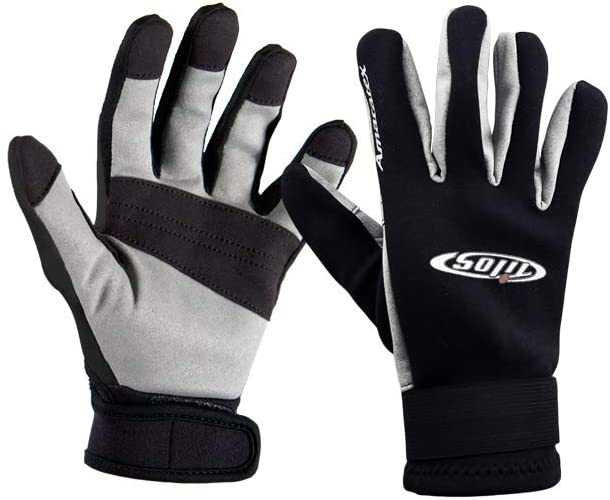 Tilos 1.5mm Quality Reef Scuba Diving Sporting Gloves with Amara Palm Black /& Grey