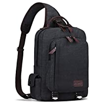 S-Zone Sling Bag for Men Chest Shoulder Gym Backpack Sack Satchel Outdoor Crossbody Pack (Dark Gray)
