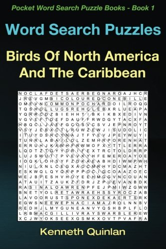 Download Word Search Puzzles: Birds Of North America And The Caribbean (Pocket Word Search Puzzle Books) (Volume 1) pdf epub