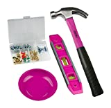 The Original Pink Box PBCWALLSET Picture Hanging Set and 12 oz Hammer