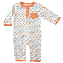 Yoga Sprout Cotton Union Suit, Giraffe, 3-6 M