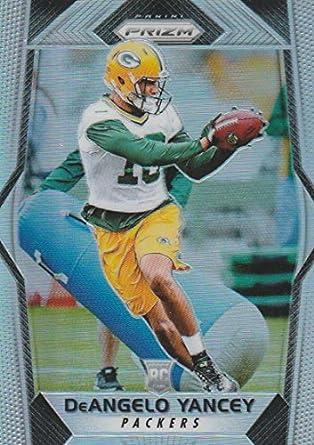 2017 Panini Prizm  258 DeAngelo Yancey Green Bay Packers Rookie Football  Card 1b0832b52