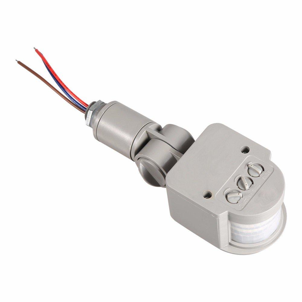 Isguin Outdoor Motion Sensor Detector Wall Light Lamp Switch LED PIR Infrared Motion Switch Sensor Detector AC85V~260V 12V