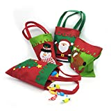 ZEYU Home Set Christmas Gift Candy Bags Packs,Christmas Bags for Gifts (Rectangle Style)
