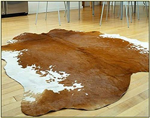 A-STAR(TM) Western Brown & White Cowhide Rug - Best Cow Hides Area Rug (5 x ()