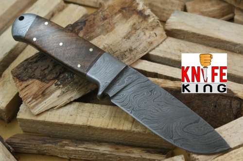 Knife King Helmand-2 Custom Damascus Handmade Hunting Knife. Comes with a sheath.