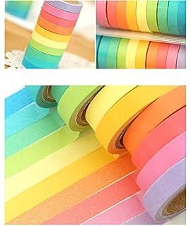 10 x decorativa washi tape arco iris DIY, no.2, F ree